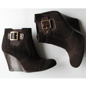 Tory Burch Adrienne Suede Wedge Booties - Size 8.5